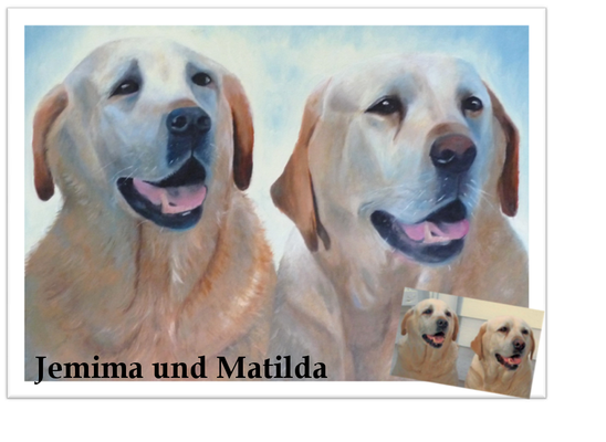 Jemima und Matilda, Öl auf Leinwand