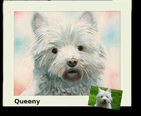 Queeny, Öl auf Leinwand