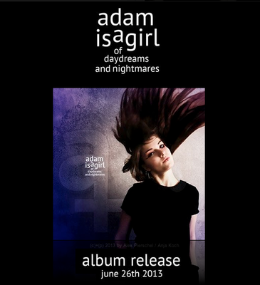 adam is a girl / Cover-, Promofoto – 01/2013