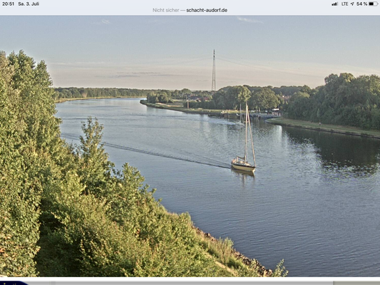 Dasindwir nach verpasstem Brückenselfie aber erfolgreichem Schacht-Audorf-Selfie