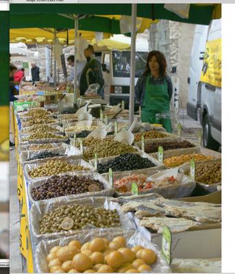 Markt in Olonzac