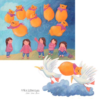 Bob der Ballon, Illustration Anka Schwelgin, Illustration für MATS-Kurs Illustrating Childrens Books 2020