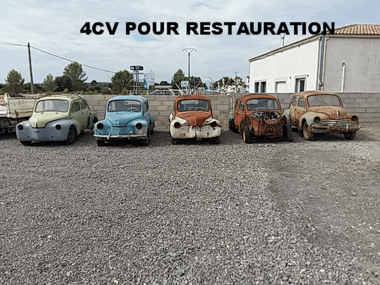 LOT RENAULT 4CV A RESTAURE