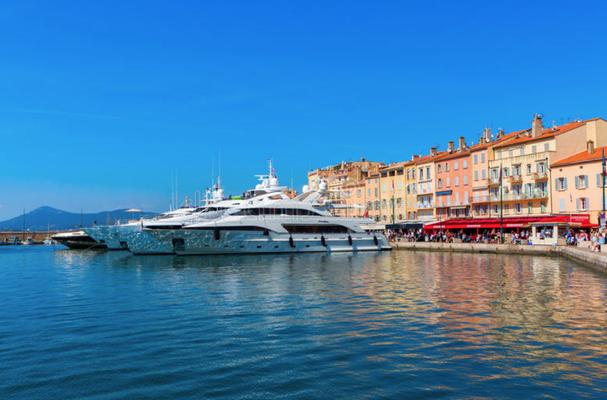 De haven van Saint Tropez
