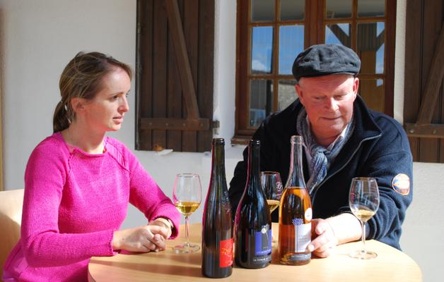 Inès Raccault met Arend Jan de Wijnman aan tafel