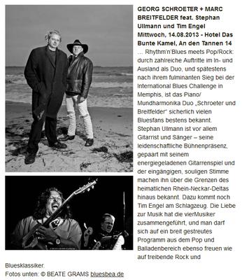 BBFN: Boogie-, Blues- und Folknächte in Hohwacht 2013