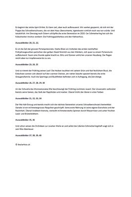 Naturerwachen im Schweiz. Coronafrühjahr s.2