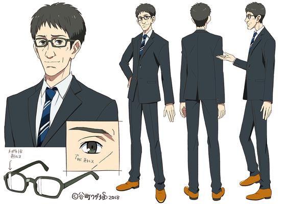 アニメ風キャラクター三面図