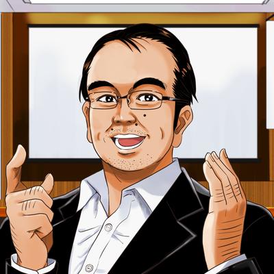 ビジネス漫画風似顔絵アイコン