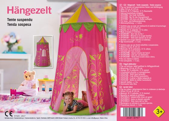 Beipackzettel für Kinderzelt