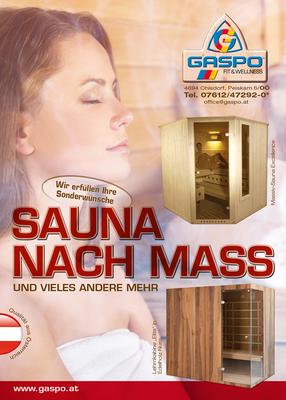 Inserat - Sauna nach Maß