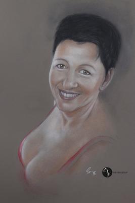 Portrait nach Vorlage - Pastell auf Pastelmat