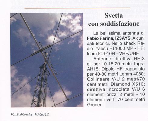 Le antenne su Radorivista 10-2012!!!!