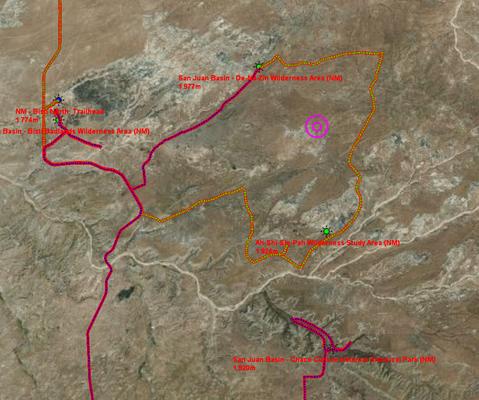 Das zentrale San Juan Basin