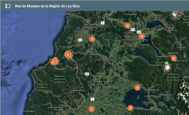 MAPA DE MUSEOS EN REGIÓN DE LOS RIOS