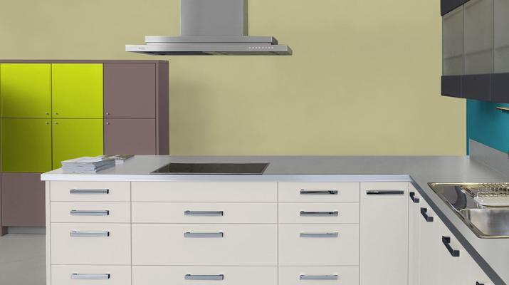 RAL 1000 - Beige vert et meubles de cuisines blancs