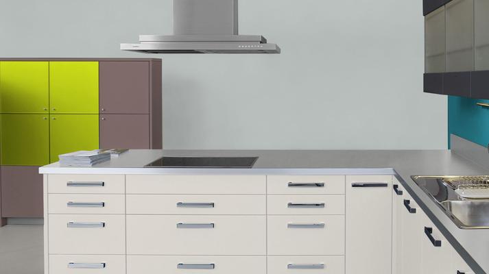 RAL 7035 - Gris clair et meubles cuisine blancs