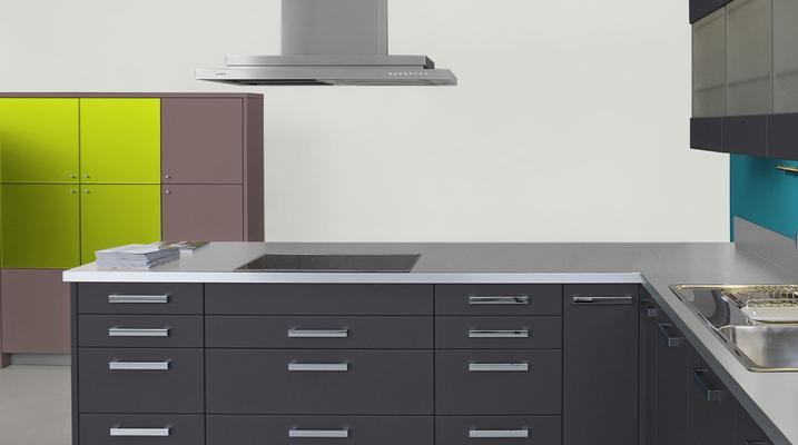 RAL 9010 -  Blanc pur et meubles cuisine noirs