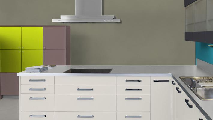 RAL 7002 - Gris olive et meubles cuisine blancs