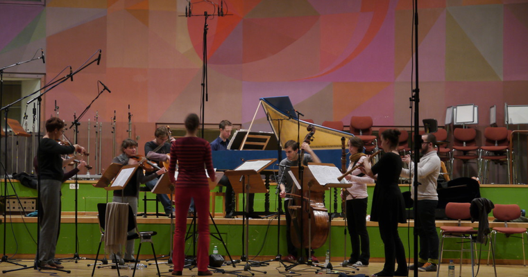 Zürcher Barockorchester. Aufnahme für Rondeau Production