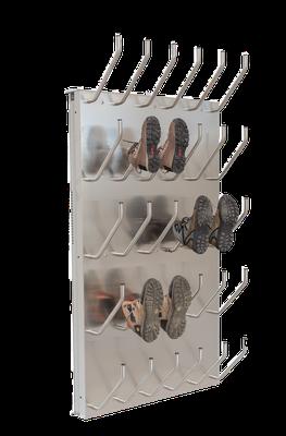 Schuhtrockner für 15 Paar mit Absaugung für Arbeitsschuhe