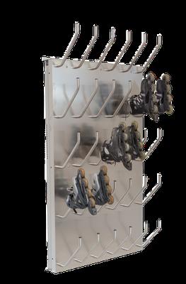 Schuhtrockner für 15 Paar mit Absaugung für Inline Skatesschuhe
