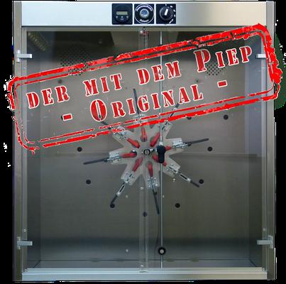 """Maskentrockenschrank Frontal """"Der mit dem Piep"""""""