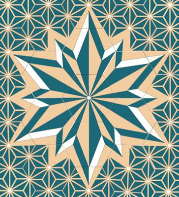 Motifs composés - Motifs de centre - Carreaux hexagonaux