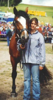 Alina beim Rossfest 2004