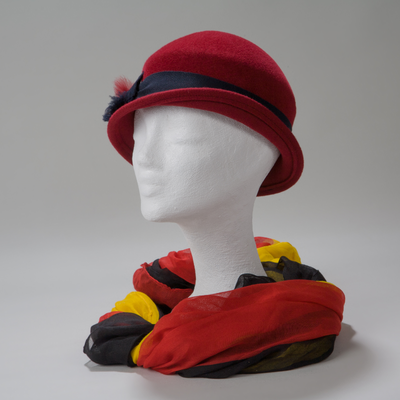 Danzig, Sportlicher Hut mit breiter Ripsband-Garnitur