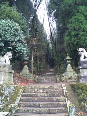 熊野座神社の長い階段