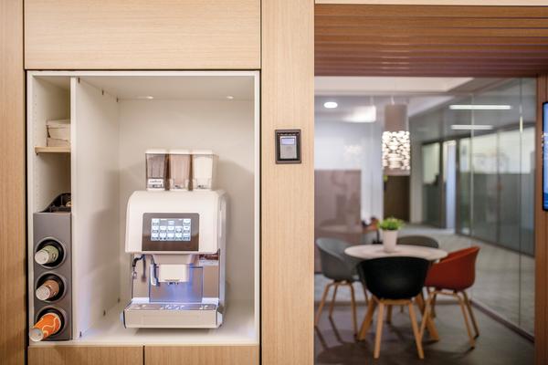 Café à machine - développe par Bureau Moderne