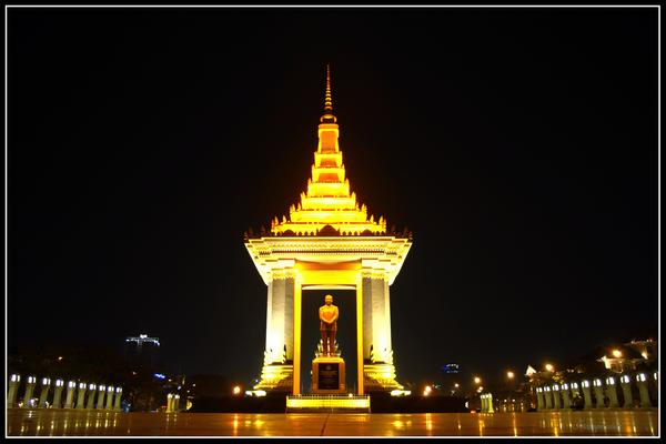 Statu of King Norodom, Phnom Phen