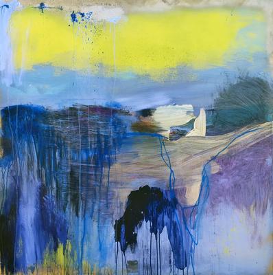 Mundo Nuevo | (48 x 48 in) | aerosol, alcohol ink and acrylic on canvas | SOLD