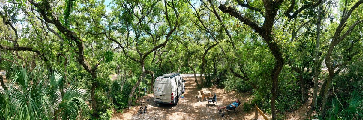 Übernachtungsplatz im Anastasia State Park Florida USA