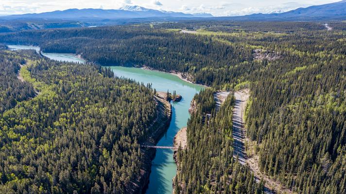 Der Yukon River bei Whitehorse Yukon Canada