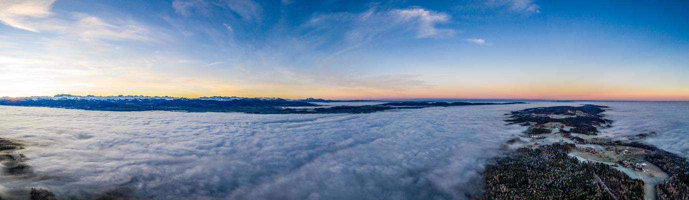 Rechts der Pfannenstielrücken 31.12.2019 vor Sonnenaufgang