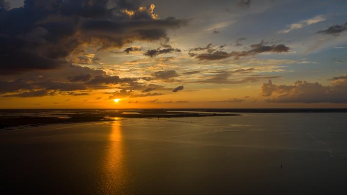Sunset beim Cumberland River Georgia USA