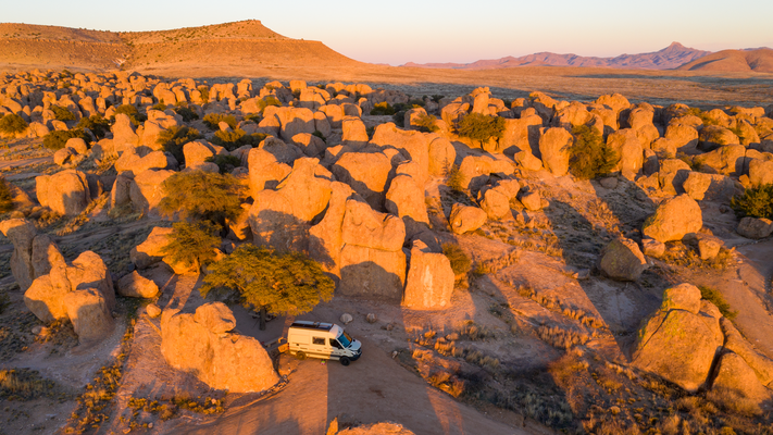 Übernachtungsplatz City of Rocks State Park New Mexico