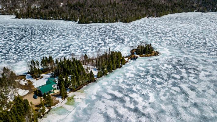 Im Mai hats noch viel Eis nördlich Québec Canada