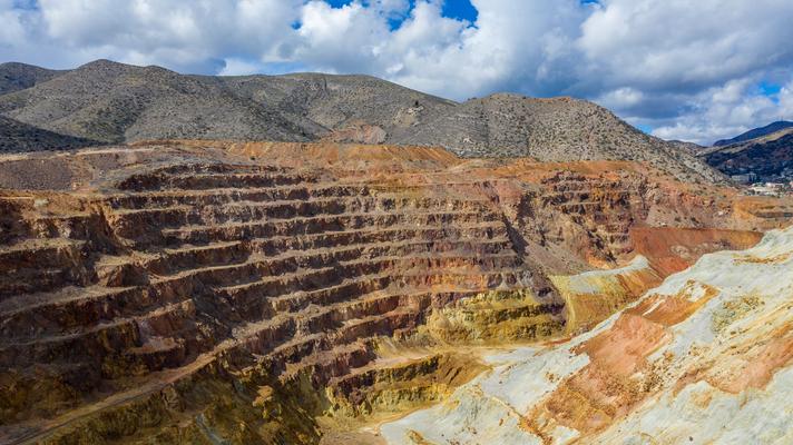 Open Pit Kupfermine bei Lowell California