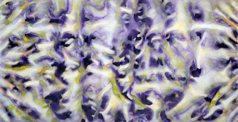 Les ancolies, 1983, acrylique sur toile, 200 x 100 cm