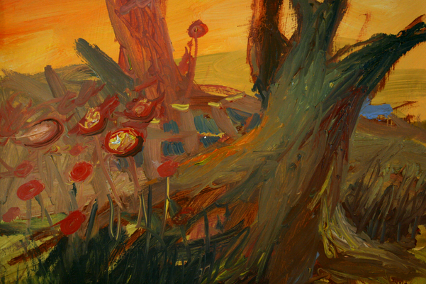 Landschaft. Öl auf Karton 27 x 35 cm
