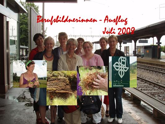 Bildungsanlass mit Berufsbildnerinnen der Lukasklinik in Arlesheim. Kräuterwanderung Schwantenau.