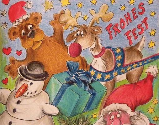 Weihnachtskarte_Elch_Weihnachtsgruß