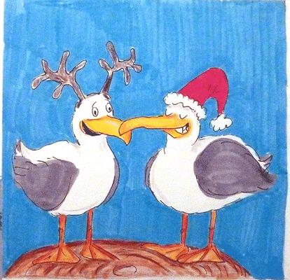 Weihnachtskarte_Möwe