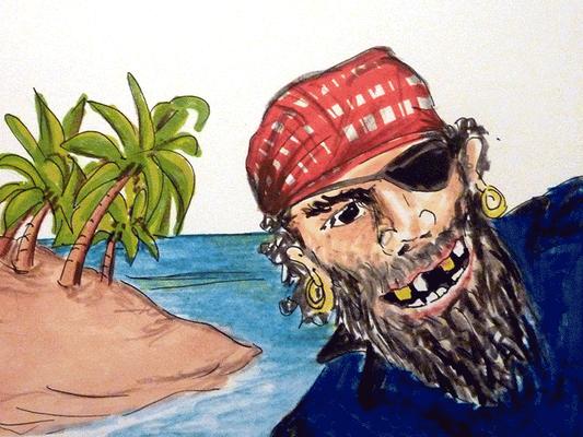 Kinder Bilderbuchzeichnung_Pirat