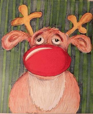 Weihnachtskarte_Elch_Rentier