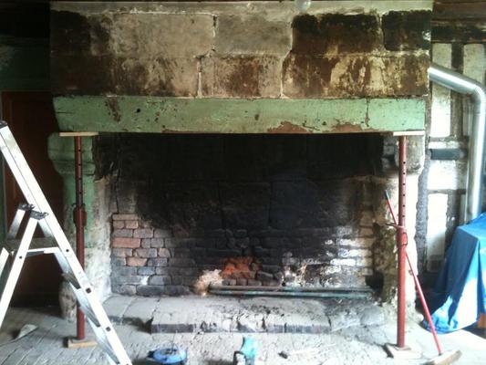 Recupération de l'ancienne cheminée du salon