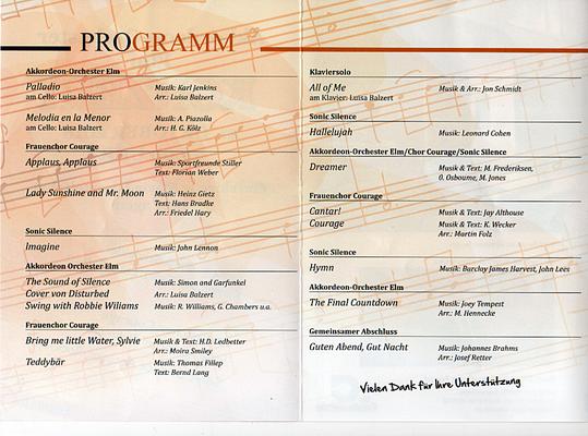 21.10.2018 - Gemeinschaftskonzert Akkordeon Orchester Elm - Sonic Silence - Pfarrkirche Maria Himmelfahrt